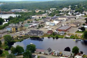 Airiel view of Lincoln Maine